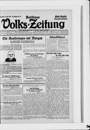 Berliner Volkszeitung vom 26.04.1924