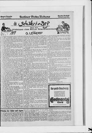 Berliner Volkszeitung vom 27.04.1924