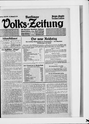 Berliner Volkszeitung vom 06.05.1924
