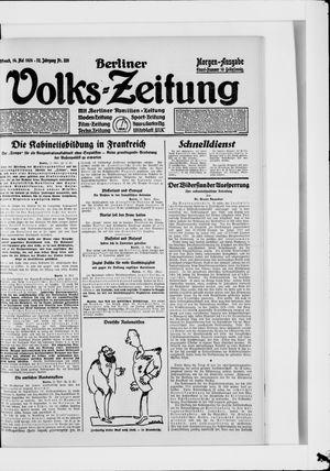Berliner Volkszeitung vom 14.05.1924