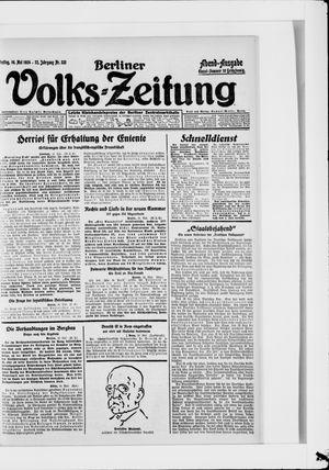 Berliner Volkszeitung on May 16, 1924