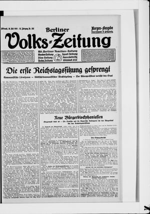 Berliner Volkszeitung vom 28.05.1924