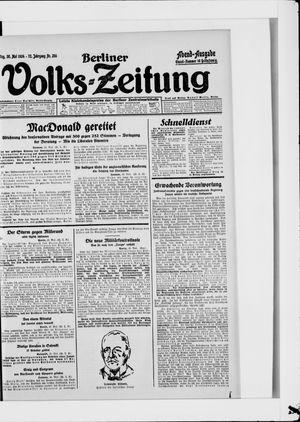 Berliner Volkszeitung vom 30.05.1924