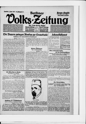 Berliner Volkszeitung vom 03.01.1925