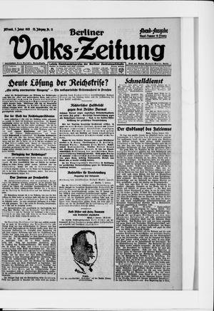 Berliner Volkszeitung vom 07.01.1925