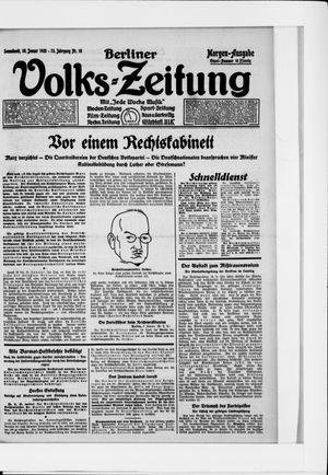Berliner Volkszeitung vom 10.01.1925