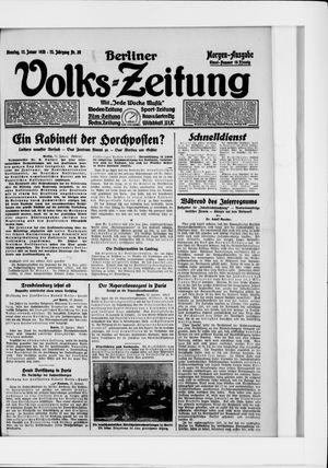 Berliner Volkszeitung vom 13.01.1925