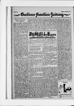 Berliner Volkszeitung vom 14.01.1925