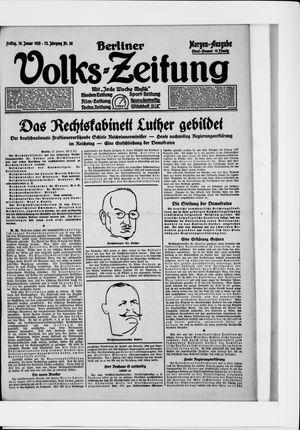 Berliner Volkszeitung vom 16.01.1925