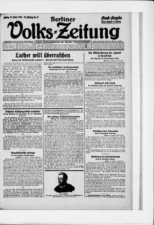 Berliner Volkszeitung vom 19.01.1925