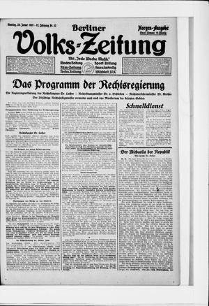 Berliner Volkszeitung vom 20.01.1925