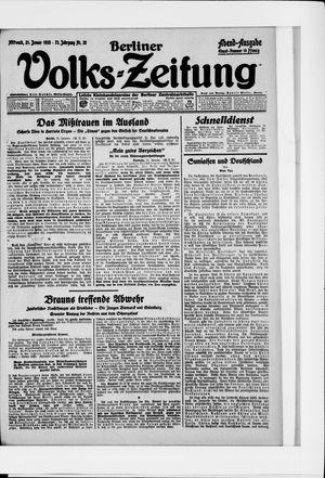 Berliner Volkszeitung vom 21.01.1925
