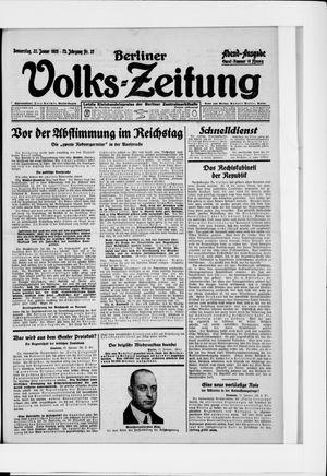 Berliner Volkszeitung vom 22.01.1925