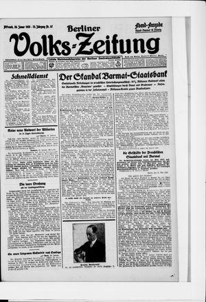 Berliner Volkszeitung vom 28.01.1925