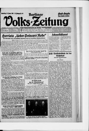 Berliner Volkszeitung vom 29.01.1925