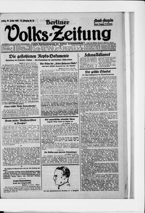 Berliner Volkszeitung vom 30.01.1925