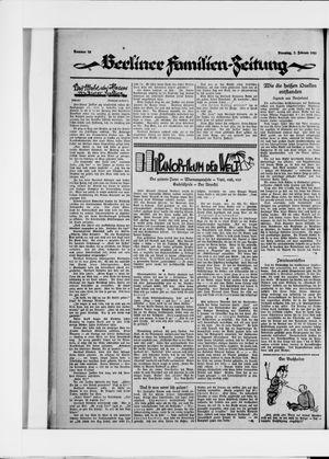 Berliner Volkszeitung vom 03.02.1925