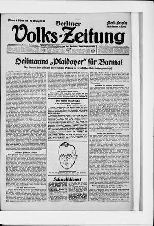Berliner Volkszeitung vom 04.02.1925