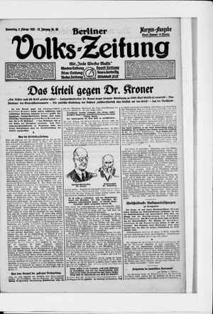 Berliner Volkszeitung vom 05.02.1925