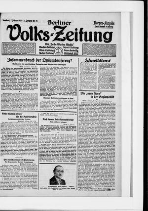 Berliner Volkszeitung vom 07.02.1925