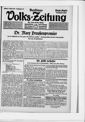 Berliner Volkszeitung vom 11.02.1925