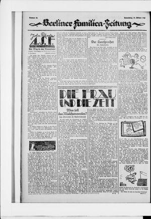 Berliner Volkszeitung vom 12.02.1925