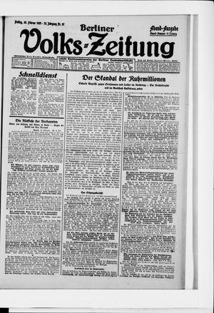 Berliner Volkszeitung vom 20.02.1925