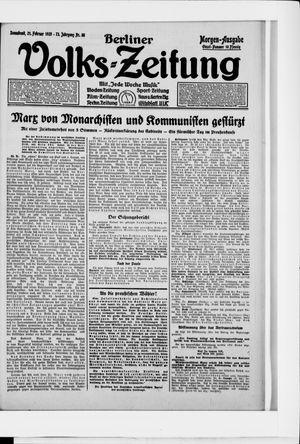 Berliner Volkszeitung vom 21.02.1925