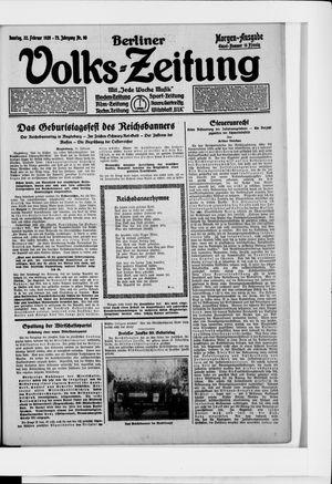 Berliner Volkszeitung vom 22.02.1925