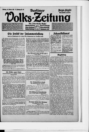 Berliner Volkszeitung vom 24.02.1925