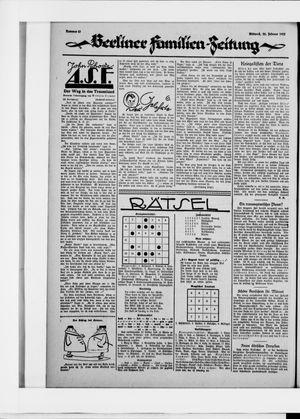 Berliner Volkszeitung vom 25.02.1925