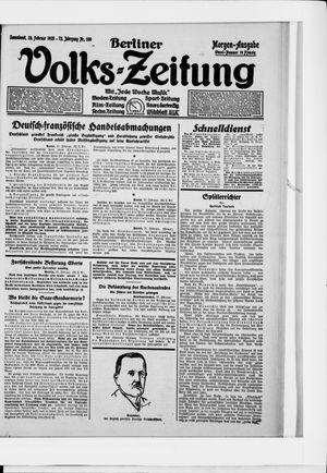 Berliner Volkszeitung on Feb 28, 1925