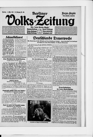 Berliner Volkszeitung vom 03.03.1925