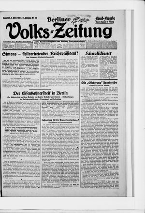 Berliner Volkszeitung vom 07.03.1925