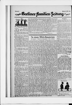 Berliner Volkszeitung vom 23.03.1925