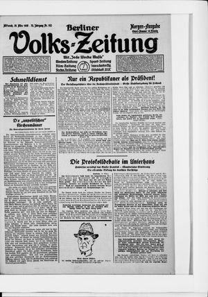 Berliner Volkszeitung vom 25.03.1925