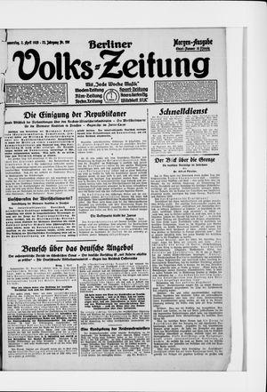 Berliner Volkszeitung vom 02.04.1925