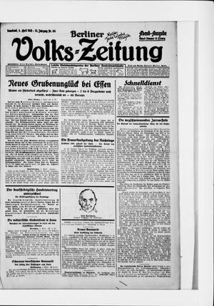 Berliner Volkszeitung on Apr 4, 1925