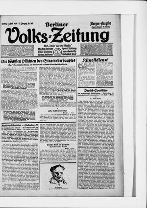 Berliner Volkszeitung on Apr 5, 1925