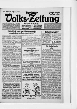 Berliner Volkszeitung on Apr 17, 1925