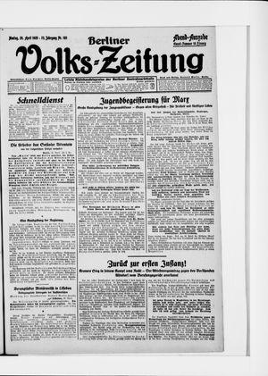 Berliner Volkszeitung vom 20.04.1925