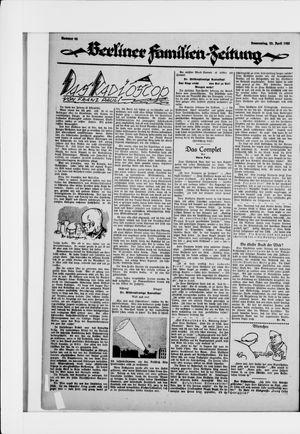Berliner Volkszeitung vom 23.04.1925