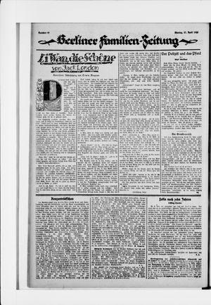 Berliner Volkszeitung vom 27.04.1925