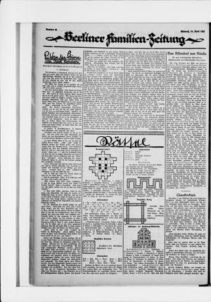 Berliner Volkszeitung vom 29.04.1925