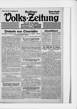 Berliner Volkszeitung vom 01.05.1925