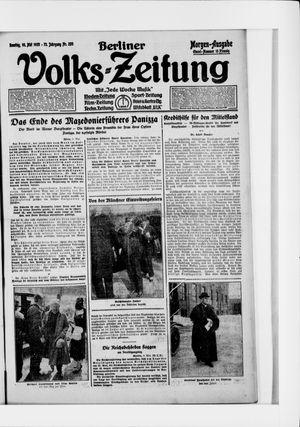 Berliner Volkszeitung vom 10.05.1925