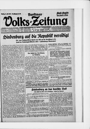 Berliner Volkszeitung vom 12.05.1925