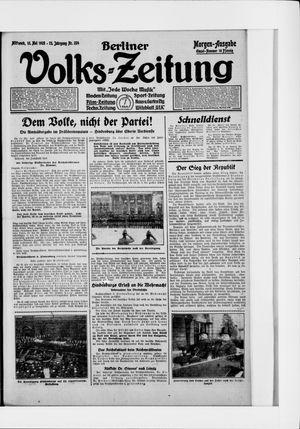 Berliner Volkszeitung vom 13.05.1925