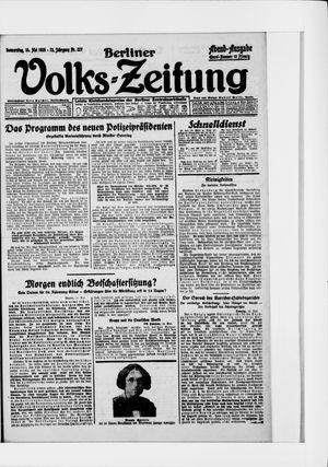 Berliner Volkszeitung vom 14.05.1925