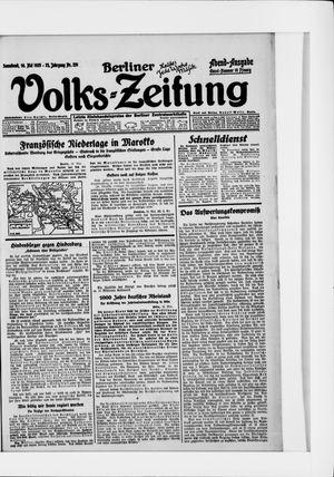 Berliner Volkszeitung vom 16.05.1925